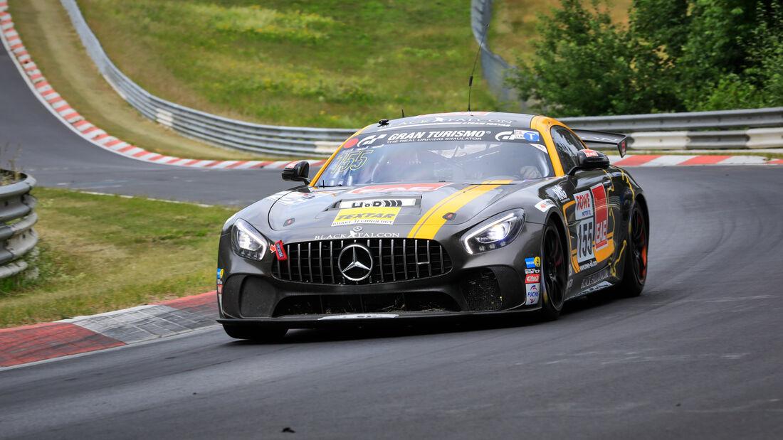 Mercedes-AMG GT4 - Startnummer #155 - BLACK FALCON Team TEXTAR - SP8T - NLS 2020 - Langstreckenmeisterschaft - Nürburgring - Nordschleife