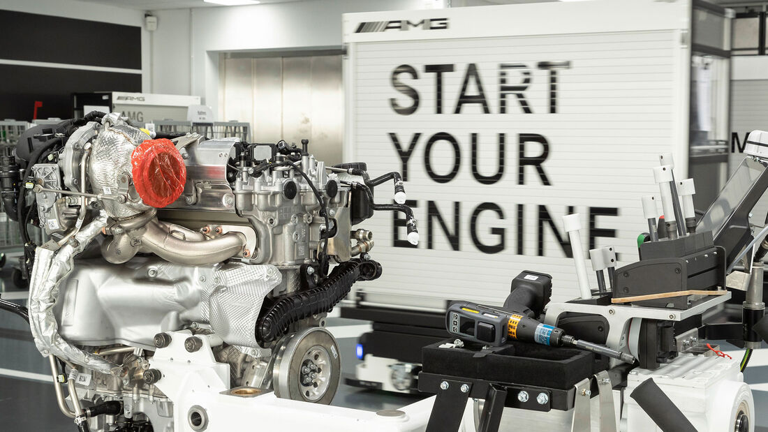 Mercedes-AMG Vierzylinder-Turbo-Produktion M 139