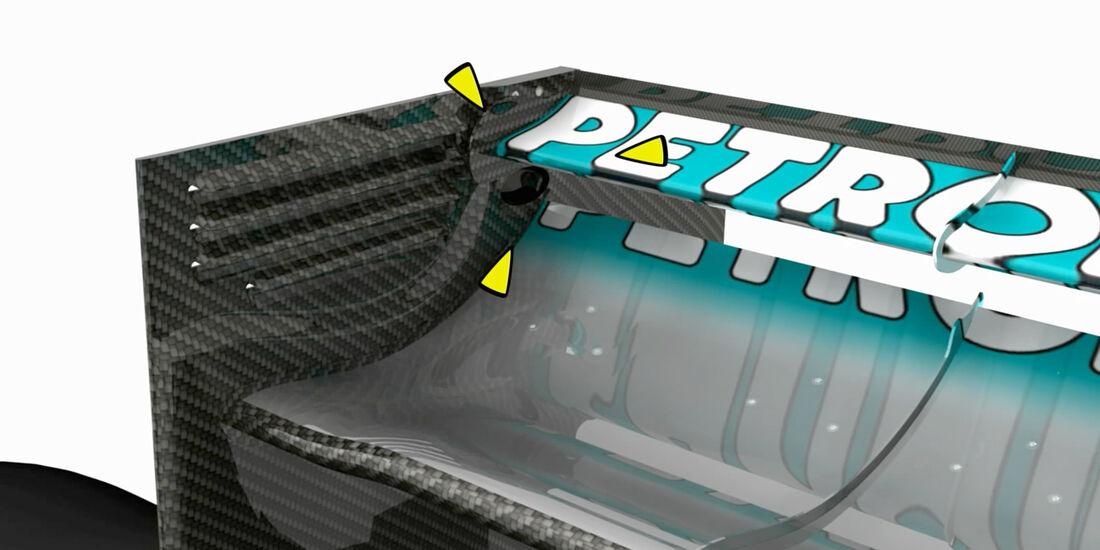 Mercedes AMG W03 2012 Piola F1 Technik DRS Trick