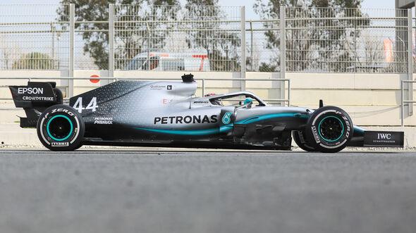 Mercedes - Abmessungen - Barcelona-Test 2019