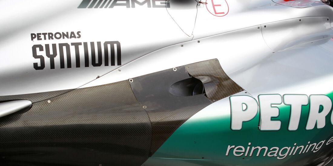 Mercedes Auspuff GP Australien 2012
