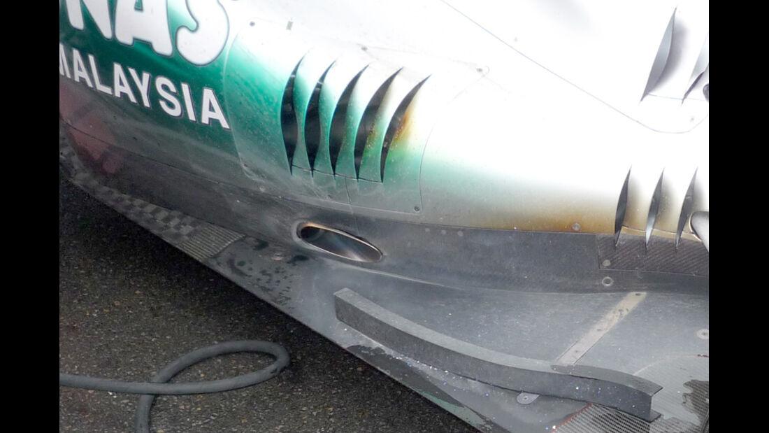 Mercedes Auspuff GP Kanada 2011