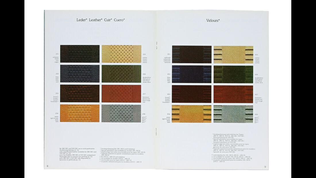 Mercedes-Ausstattungsvielfalt, Polster-Prospekt