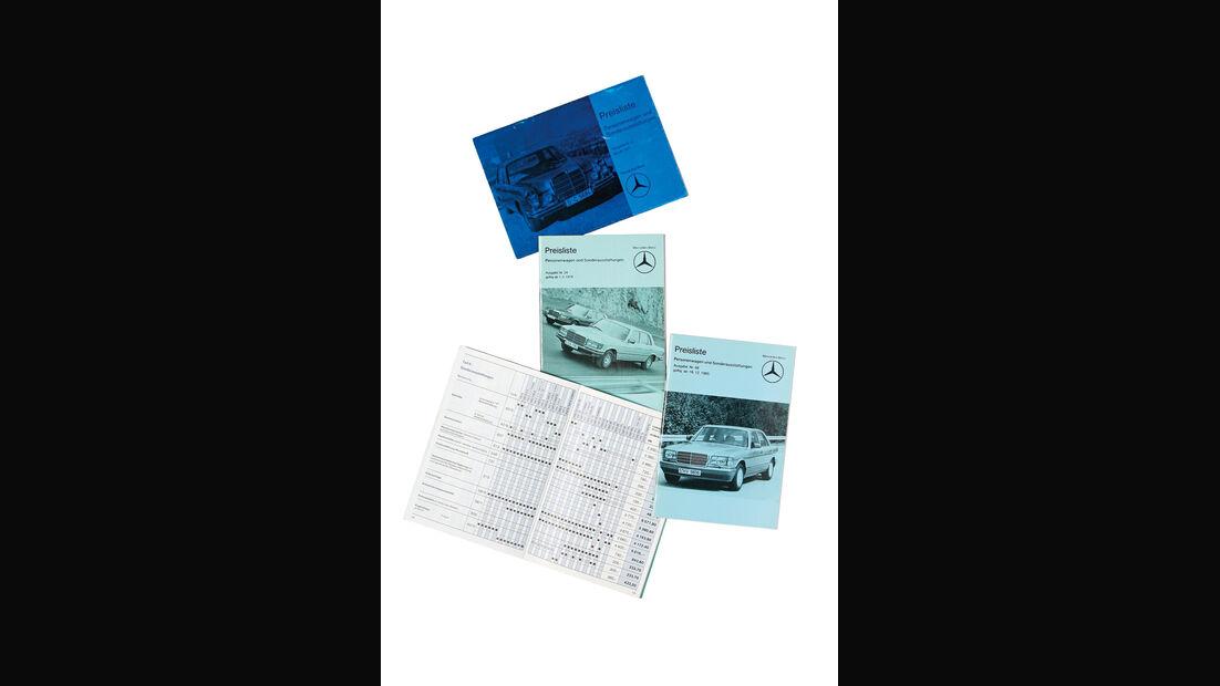 Mercedes-Ausstattungsvielfalt, Preisliste, Sonderausstattungen