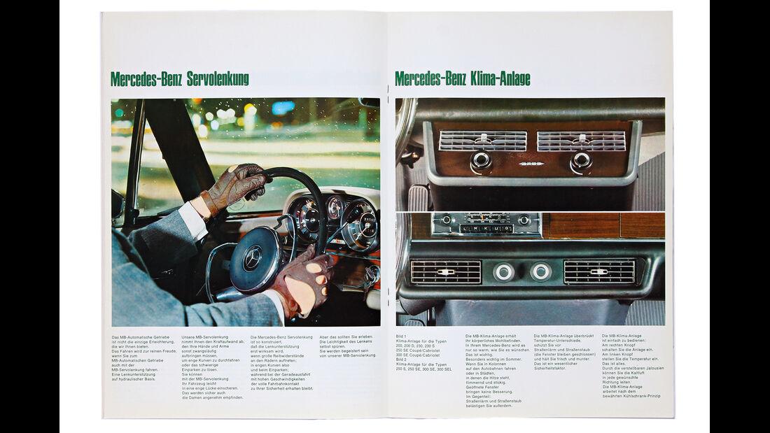 Mercedes-Ausstattungsvielfalt, Prospekt, Extras