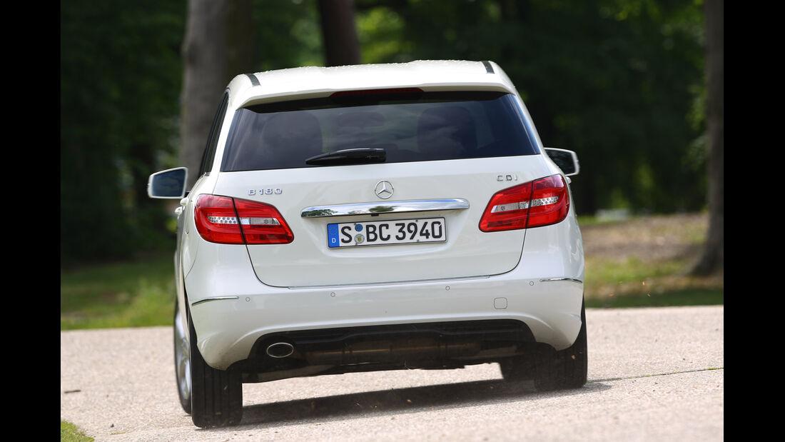 Mercedes B 180 CDI, Heck