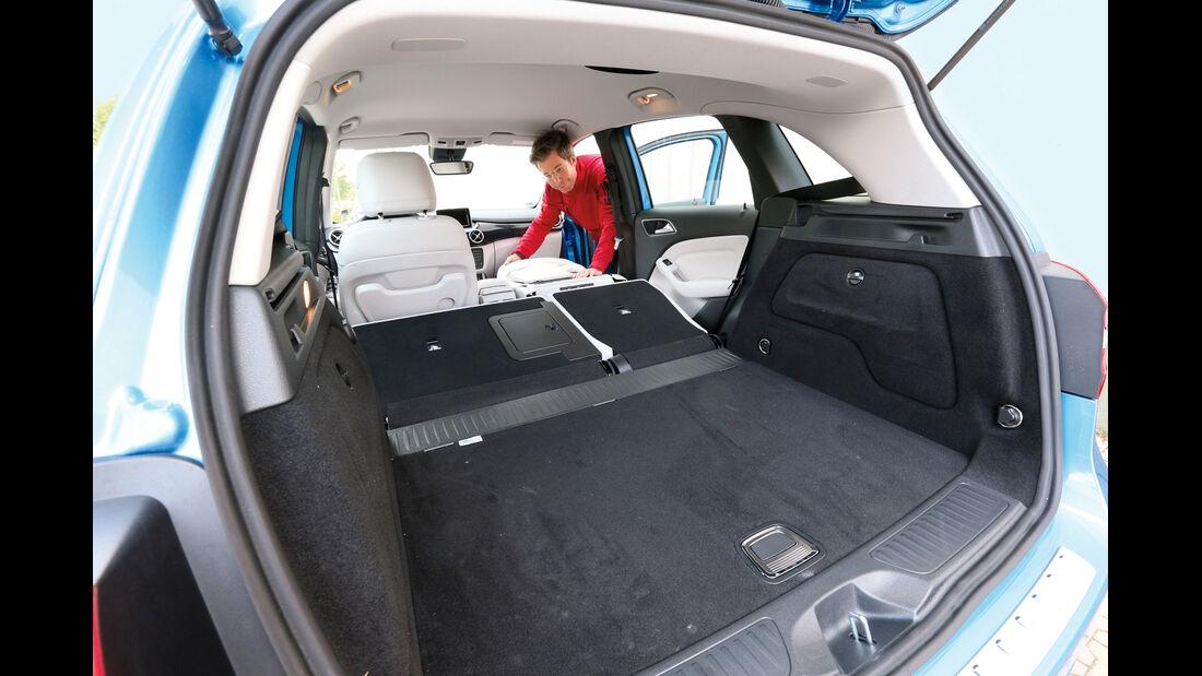 Mercedes B 180, Kofferraum