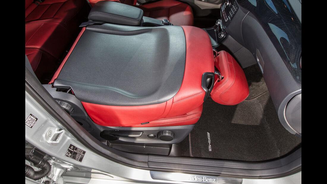 Mercedes B 200 CDI, Fahrersitz, Umklappen