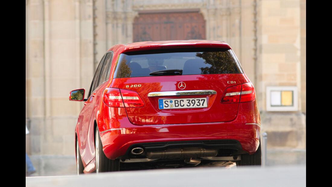 Mercedes B 200 CDI, Heck
