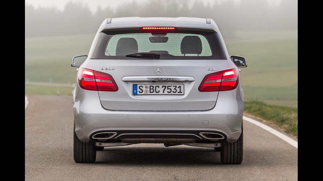 Mercedes B 200 CDI, Heckansicht