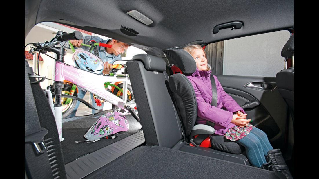 Mercedes B 200 CDI, Kindersitz