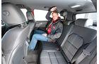 Mercedes B 200 CDI, Rücksitz, Beinfreiheit