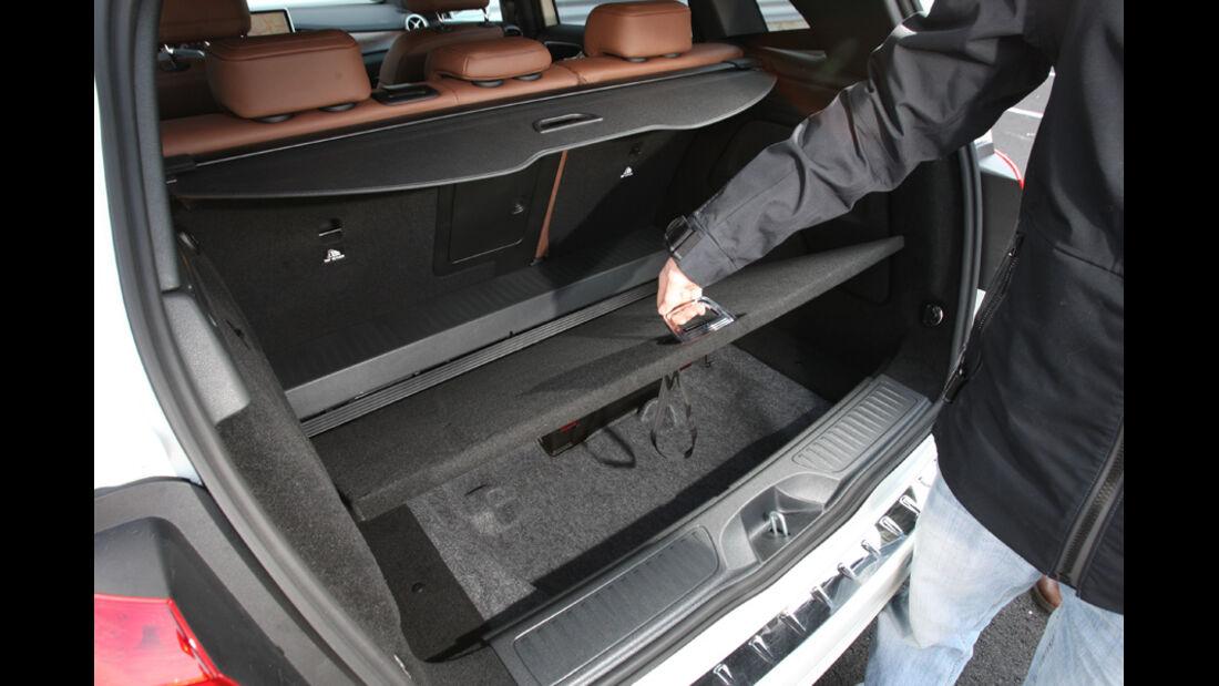 Mercedes B 200, Kofferraum