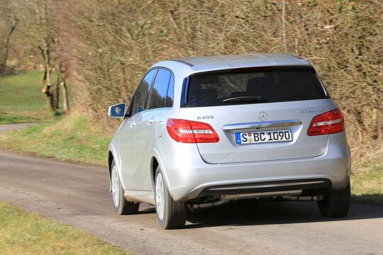 Mercedes B 200 NGD, Heckansicht