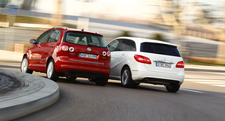 Mercedes B 200, VW Golf Plus 1.4TSI