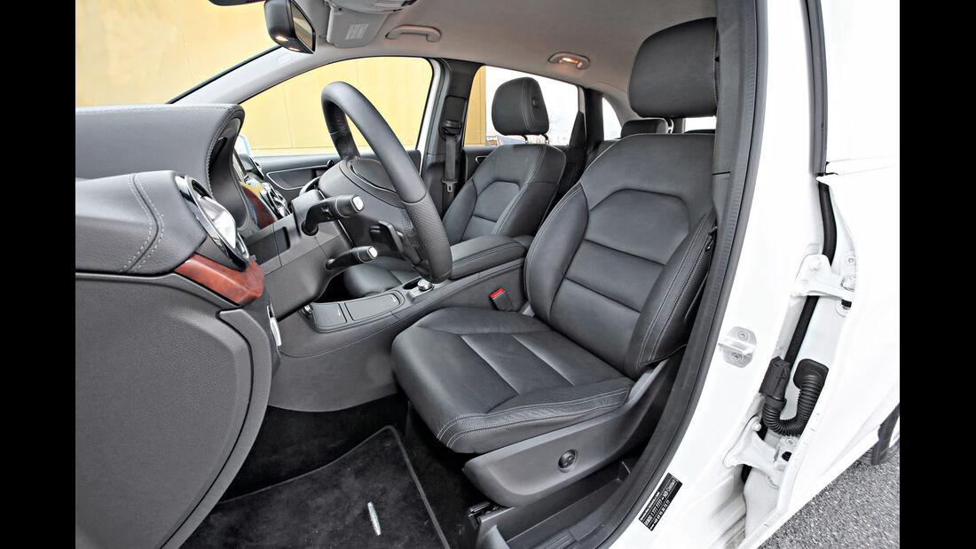 Mercedes B 250, Fahrersitz