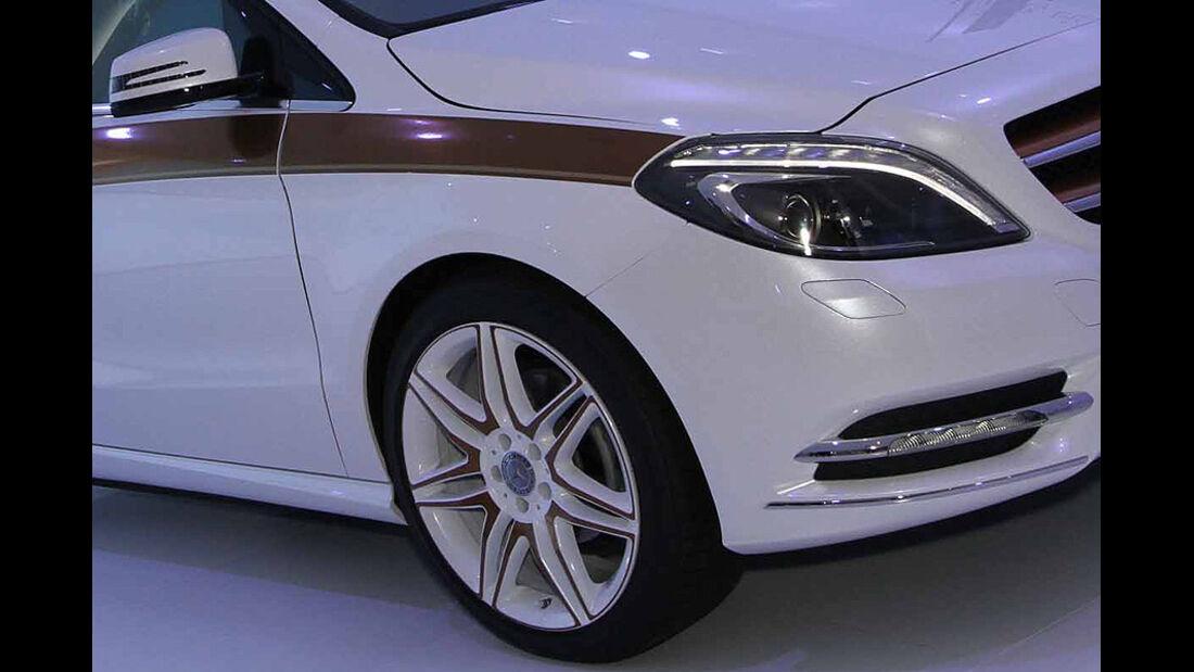 Mercedes B-Klasse E-Cell Konzept, Felge, Scheinwerfer