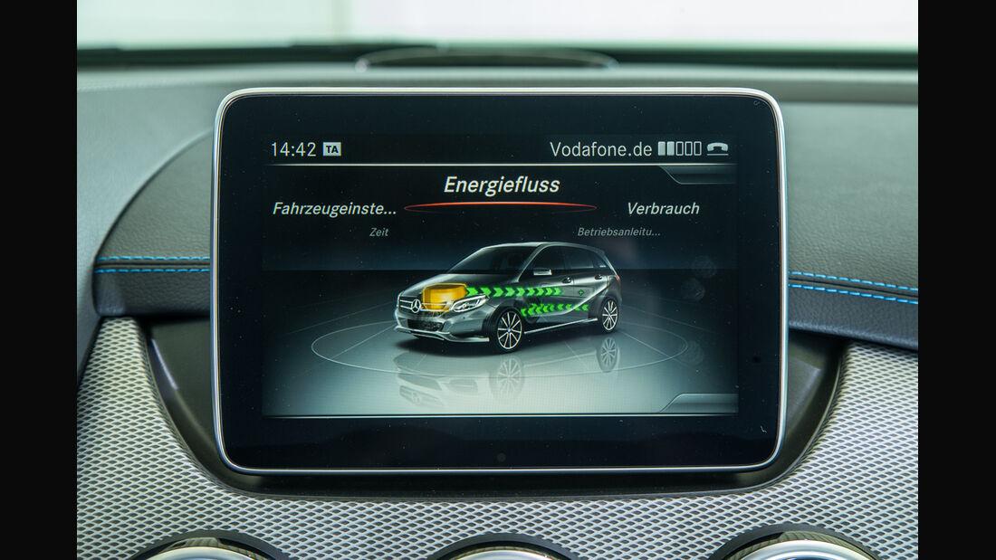Mercedes B-Klasse Electric Drive, Display, Anzeige