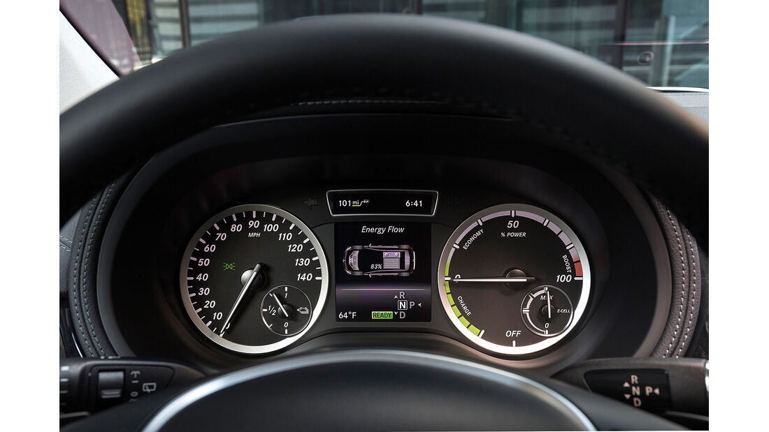 Mercedes B-Klasse Electric Drive, Instrumente