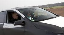 Mercedes B-Klasse, Erlkönig, Fahrer