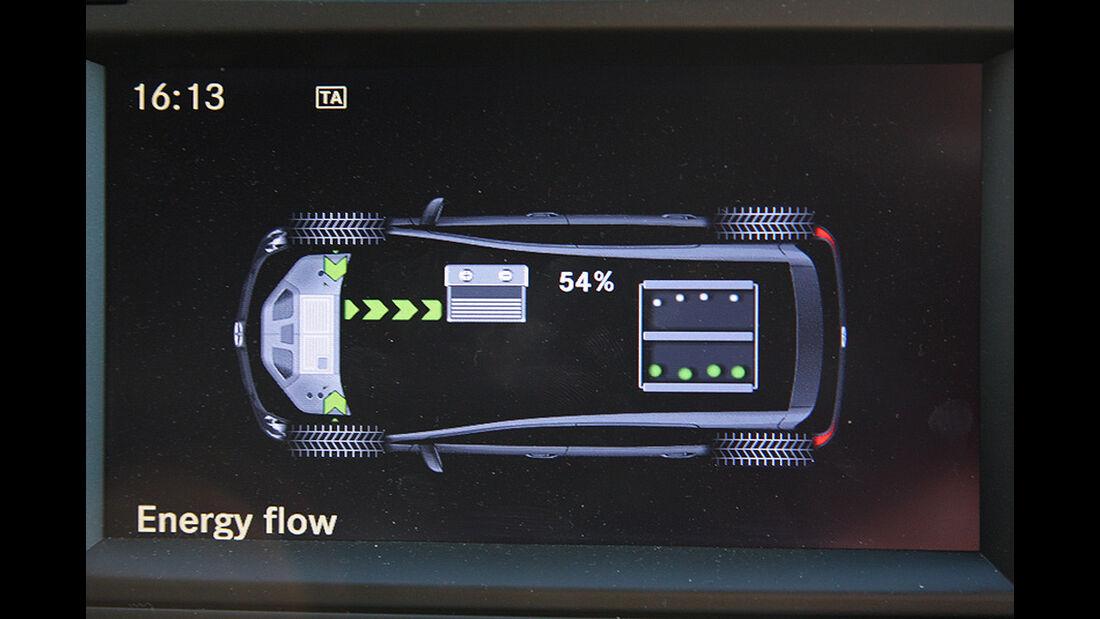 Mercedes B-Klasse F-Cell, Energiefluss, Display