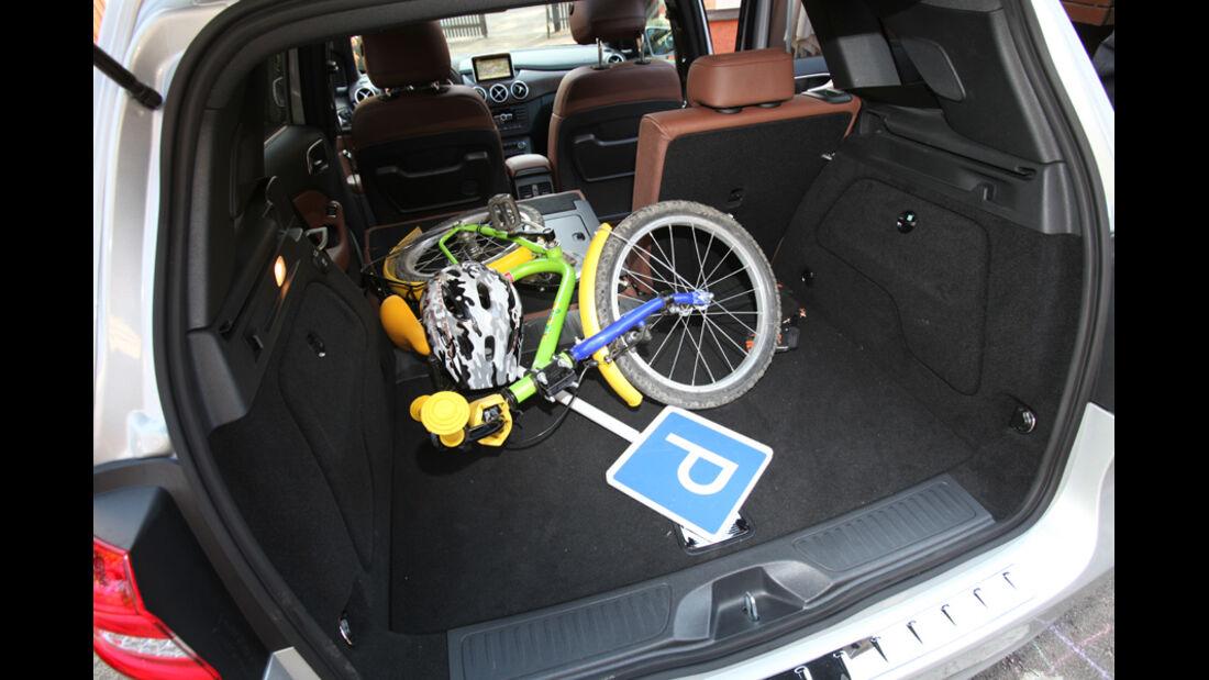 Mercedes B-Klasse, Kofferraum