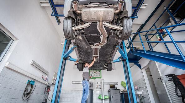 Mercedes B-Klasse, Motorraum