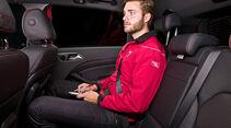 Mercedes B-Klasse Sitzprobe