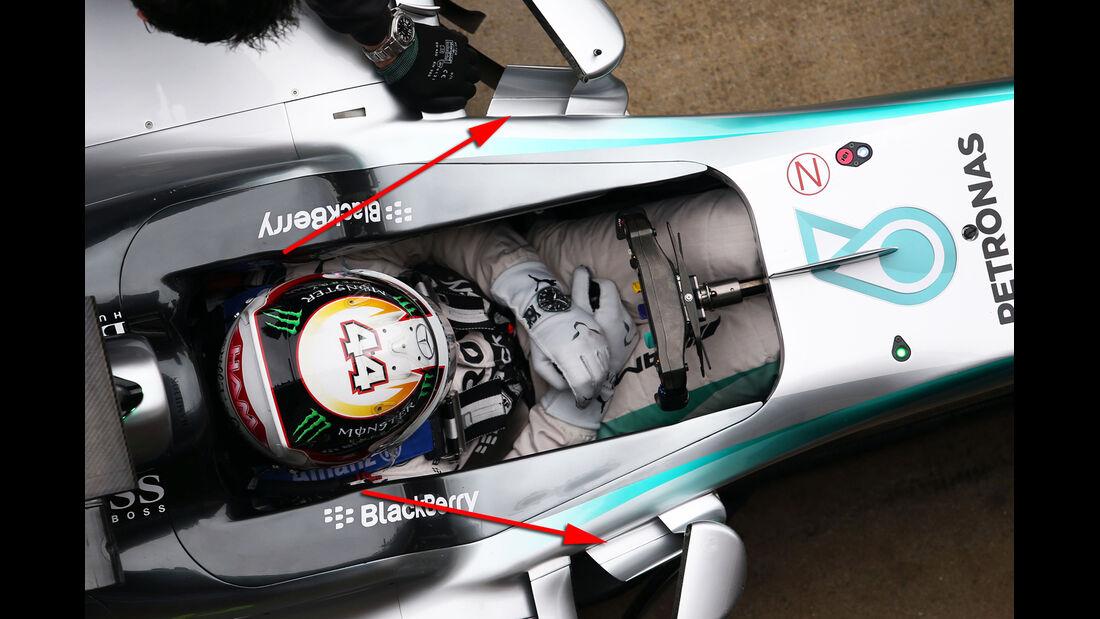 Mercedes - Barcelona-Test - Technik - Formel 1 2015