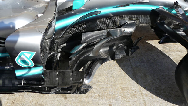 Mercedes - Bargeboards - GP Spanien 2019