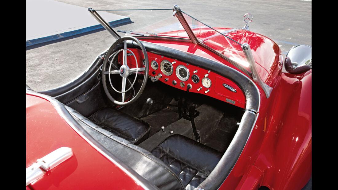 Mercedes-Benz 150 Sportroadster, W 130, Baujahr 1942 Cockpit