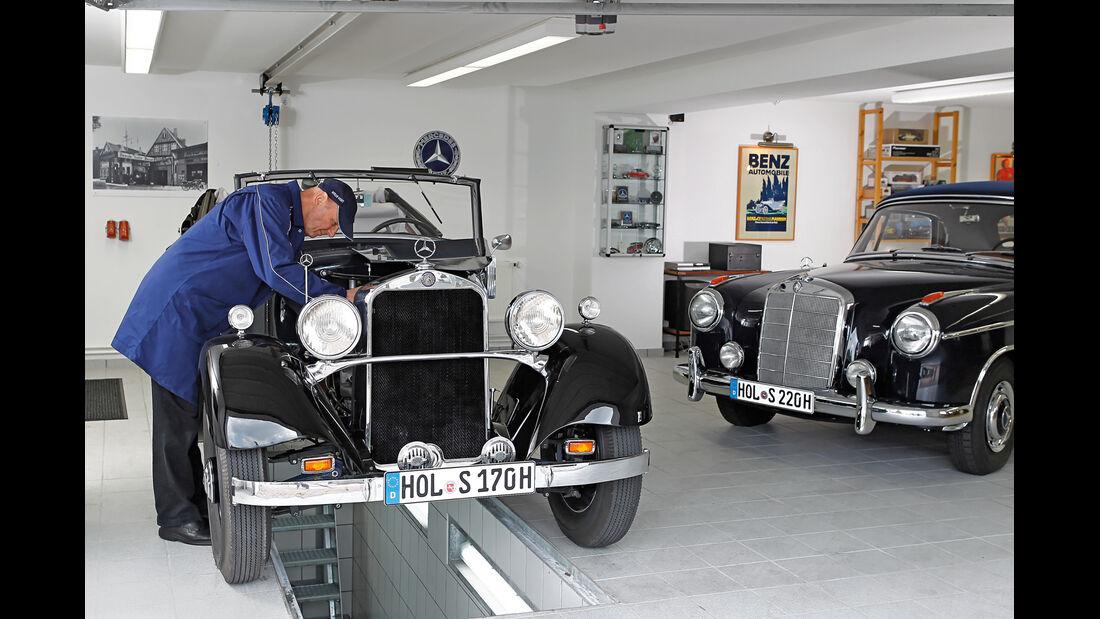Mercedes-Benz 170 Cabriolet, Jürgen Freudenberg, Garage
