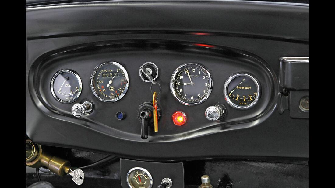 Mercedes-Benz 170 Cabriolet, Rundinstrumente