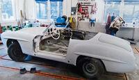Mercedes-Benz 190 SL, Chassis, Blecharbeiten
