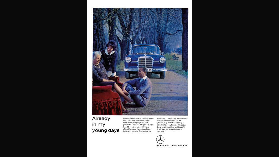 Mercedes-Benz 190, Werbeplakat