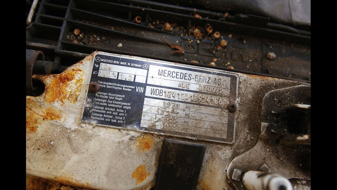 Mercedes-Benz 250 D, Schild, Rost