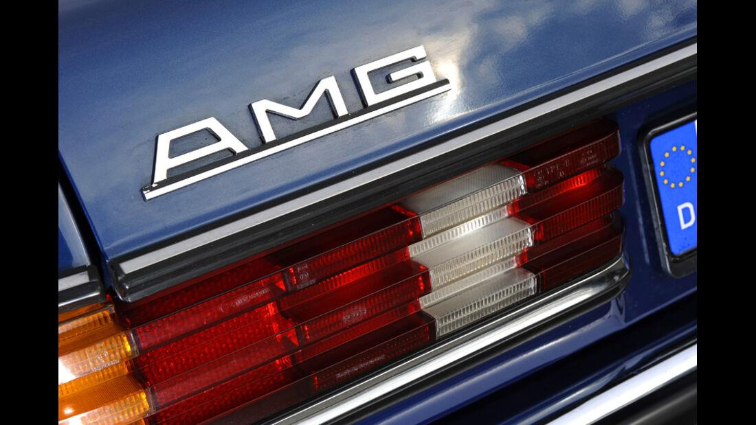 Mercedes- Benz 280 E AMG, Detail, Hecklicht, AMG Logo
