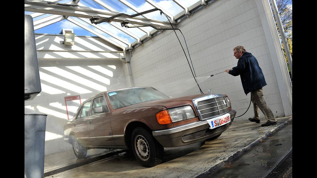 Mercedes-Benz 280 SE, Waschen, Frontansicht