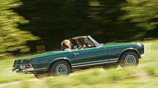 Mercedes-Benz 280 SL, Seitenansicht