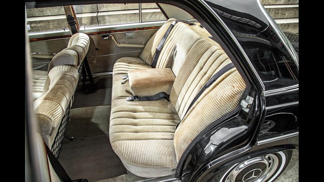 Mercedes-Benz 300 SEL 3.5, Fondsitze