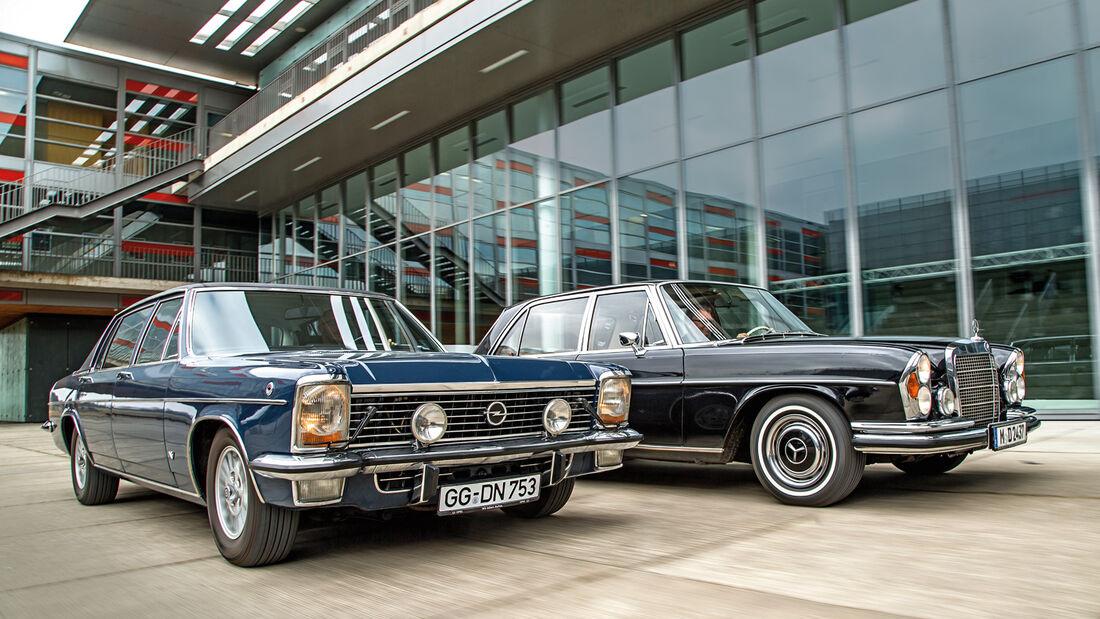 Mercedes-Benz 300 SEL 3.5, Opel Diplomat V8, Frontansicht