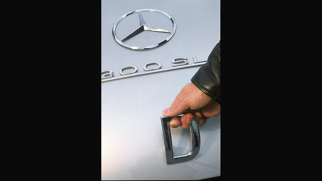 Mercedes-Benz 300 SL (W 194), Kofferraumklappe