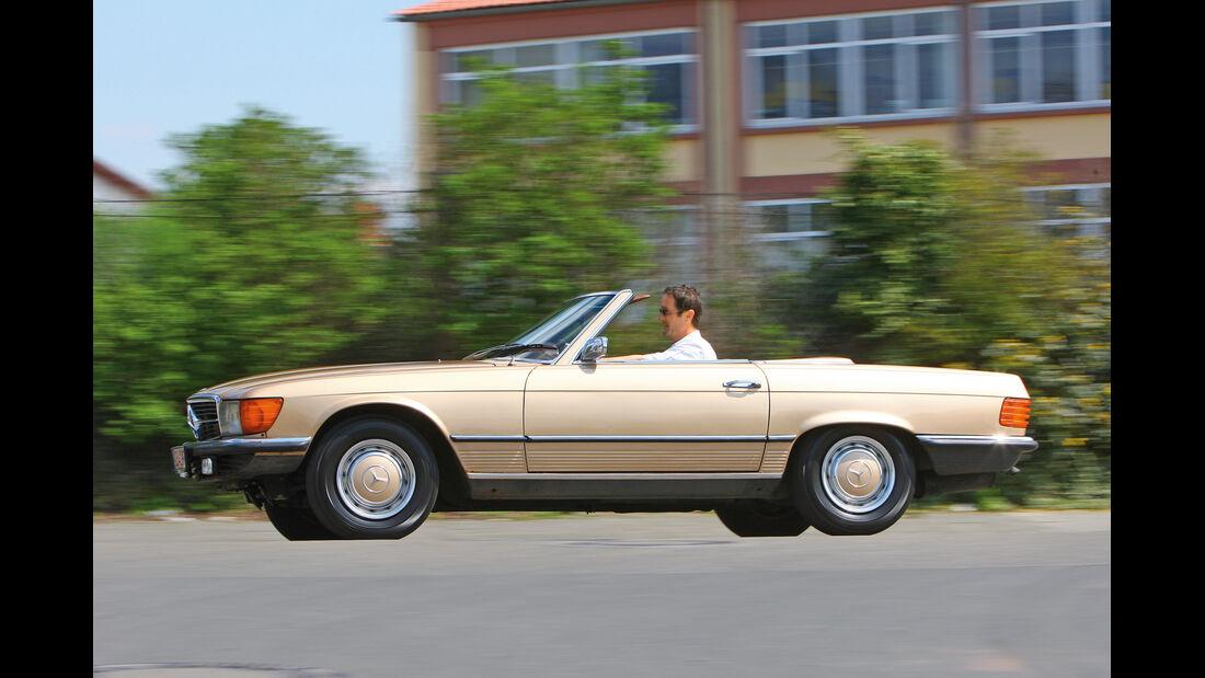 Mercedes-Benz 350 SL, Seitenansicht