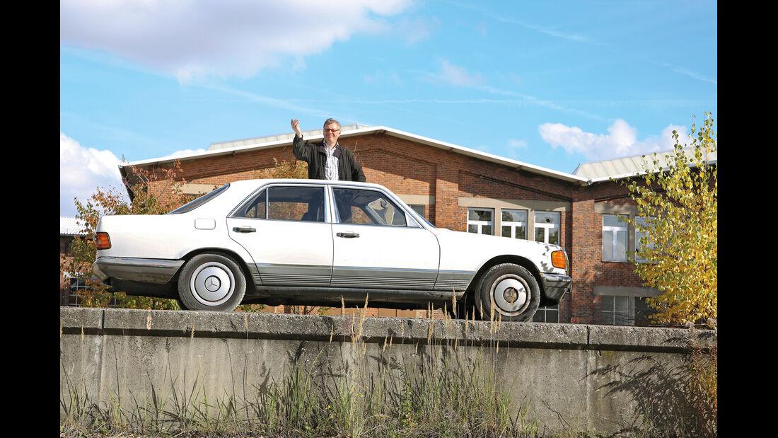 Mercedes-Benz 380 SE, Seitenansicht