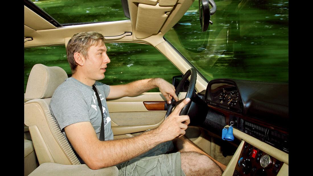 Mercedes-Benz 380 SEL, Cockpit, Innenraum