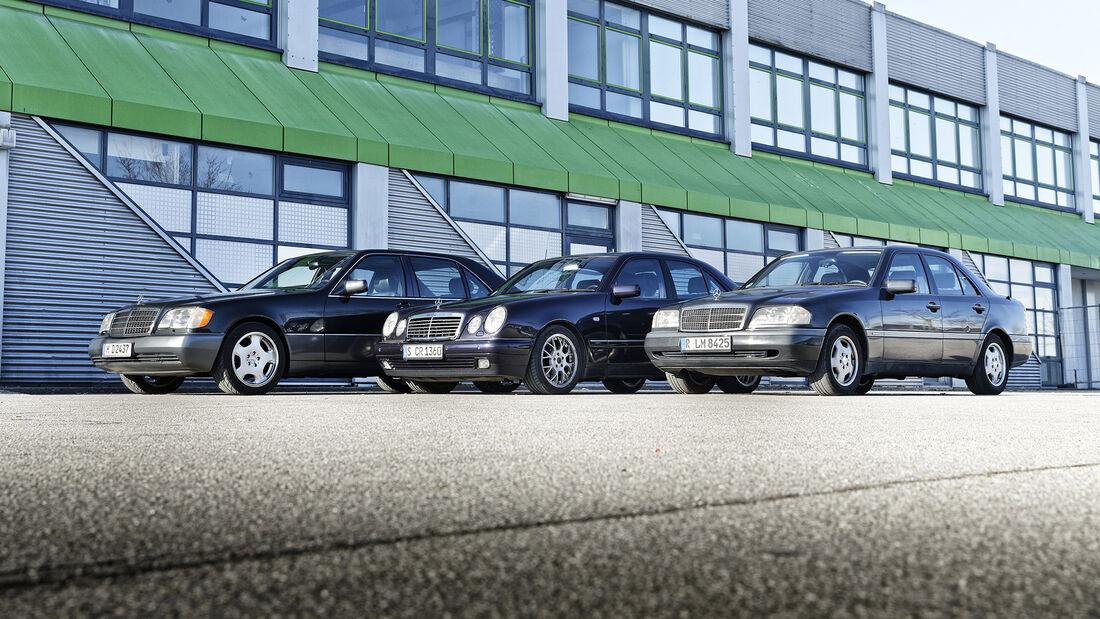 Mercedes-Benz 500 SEL, Mercedes-Benz E 280 Avantgarde, Mercedes-Benz C 220 Elegance, Exterieur