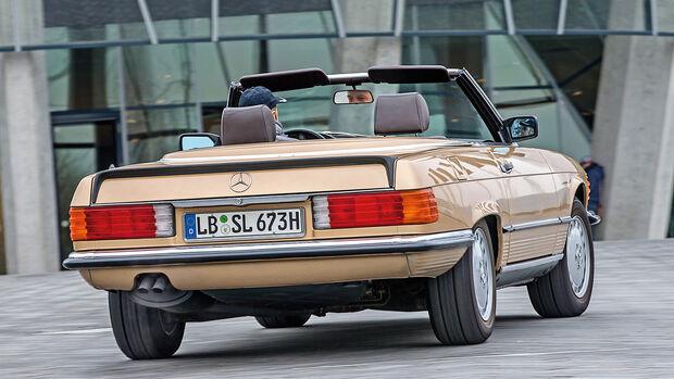 Mercedes-Benz 500 SL, Heckansicht