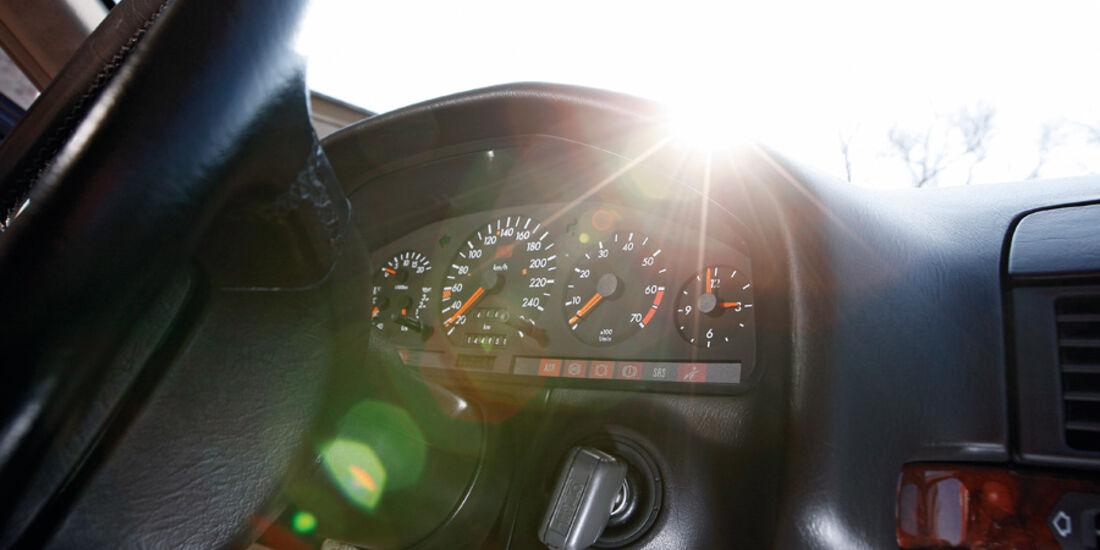 Mercedes-Benz 600 SEL, Rundinstrumente, Tacho