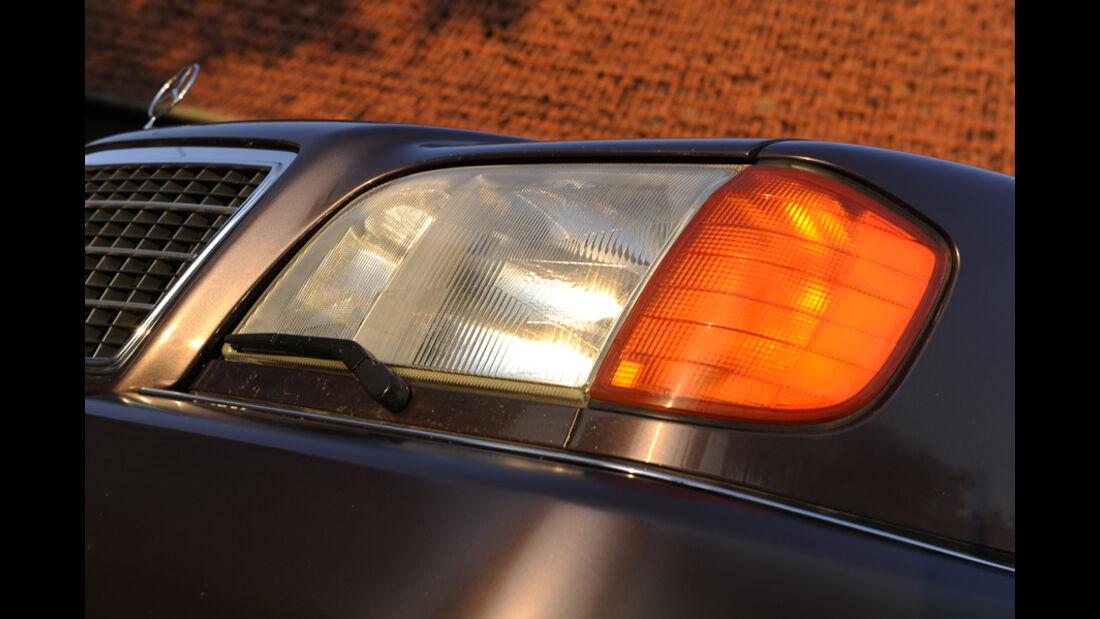 Mercedes-Benz 600 SEL, W 140, Baujahr 1992 Scheinwerfer