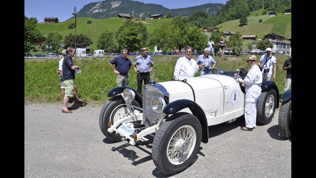 Mercedes-Benz 710 SSK bei der Silvretta Classic 2010 - Dr. Hans Schenk und Traude Bloesl